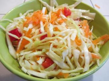 Coleslaw and carrots for the winter. This blank should necessarily be in your bins!