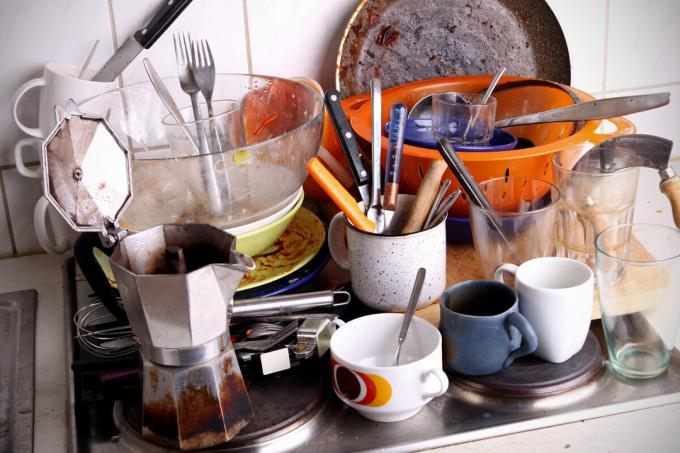 Consequences after cooking dessert. Photos - Yandex. Images