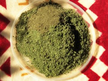 How to make nettle powder to taste like seaweed Nori