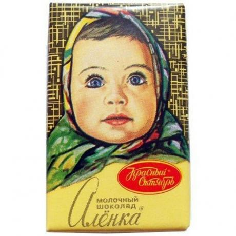 Wrap the chocolate Alenka, to which we are all accustomed to