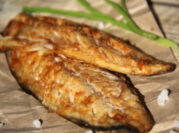 Mackerel on an unusual recipe in the oven. Delicious and juicy