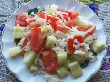 Night salad with antiparasitic effect